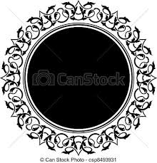 vector clip of black frame with ornamental border csp8493931