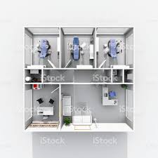 3d interior rendering of furnished dental clinic stock photo