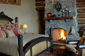 rustic stone fireplaces rustic stone fireplace in the rustic bedroom complete with rustic
