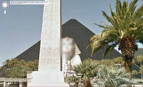 Google Maps Las Vegas by On Google Maps The Sphinx In Front Of The Luxor Casino Has It U0027s