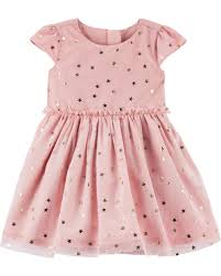 Baby Girl Star Tulle Holiday Dress  Carterscom