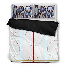 Hockey Bedding Set Hockey Rink Bedding Set Printedkicks