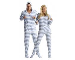 blue steel footed onesie pajamas pj onesie
