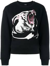 marcelo burlon county of milan tiger print sweatshirt 1088 black
