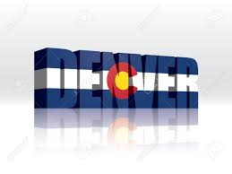 Flag Of Denver 3d Vector Denver Colorado Word Text Flag Royalty Free Cliparts