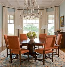 Dining Room Bay Window Curtain Ideas Dining Room Traditional With - Furniture placement living room bay window