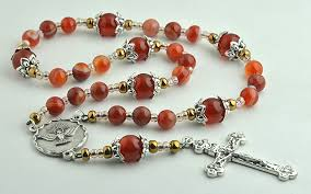 chaplet of the holy chaplet of the 7 gifts of the holy spirit in striped agate and