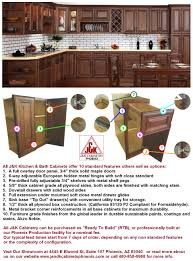J K Kitchen Cabinets Wholesale Kitchen Cabinets In Phoenix Standard Features