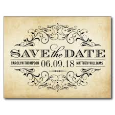 save the date online vintage wedding save the date swirl and flourish postcard