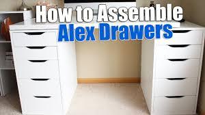 Ikea Furnitures How To Build Ikea Alex Drawers Build Ikea Furniture Youtube