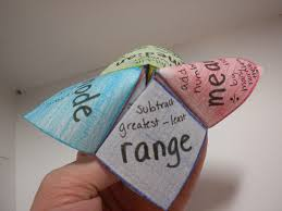i is a number measures of central tendency cootie catcher or