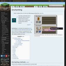 Minecraft Wiki Enchanting Table Expert Stuff Pearltrees