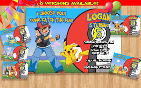 template lovely pokemon birthday invite wording with card hd