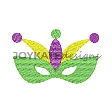 marti gras mask light fill mardi gras mask embroidery design kate designs