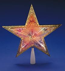 Lighted Christmas Star Tree Topper by 10