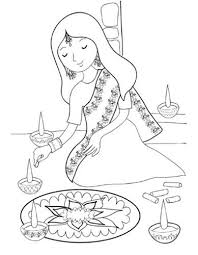diwali paintings drawing pictures scene diwali sketch for kids