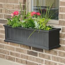 mayne square polyethylene cape cod 20 x 20 patio planter hayneedle