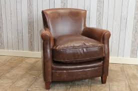 vintage antique style brown leather armchair fireside chair the
