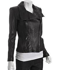 best moto jacket michael michael kors black asymmetrical zip leather moto jacket