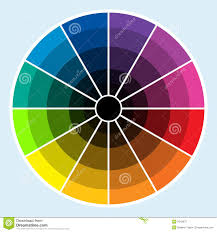 color wheel dark stock illustration image of colors 5045070