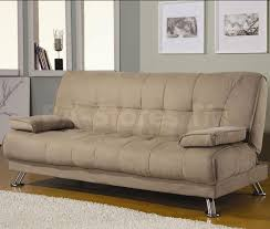 Single Armchair Bed Furniture Black Leather Pull Out Couch Leather Hideabed Sofa