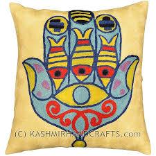 Sofa Cushion Cover Designs Eye Of Fatima Mary Pillow Cover Modern Cushion Design Hand