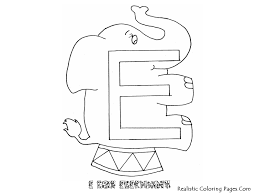 e letters alphabet coloring pages realistic coloring pages