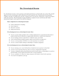 Chronological Order Resume Example by 7 Resume Chronological Order Autobiography Format