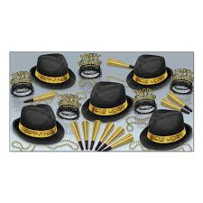 new year party kits beistle chairman gold party kit for 10 bulk party supplies