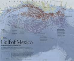 Gulf Of Mexico On Map by Gis Research And Map Collection