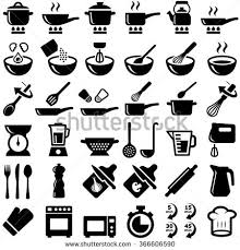 kitchen icon cooking kitchen icon collection vector silhouette stock vector hd