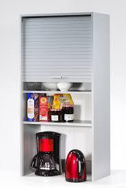 meuble à rideau cuisine armoire de rangement à rideau coloris aluminium loick ii meuble de