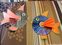 fun summer crafts for kids how to make hanging cd fish fun