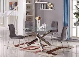 silverado chrome 47 round dining table silverado 72 chrome dining table cb2 in glass and idea 1