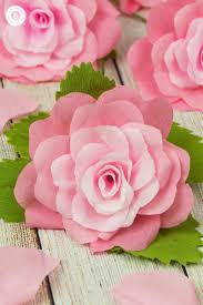 Paper Roses Crepe Paper Roses And A Free Printable Template Country Hill Cottage