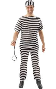 convict fancy dress costume jokers masquerade
