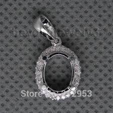 custom pendants fashion vintage oval 7x9mm 18kt white gold setting custom pendant