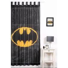 Black Tab Top Curtains Batman Tab Top Curtain