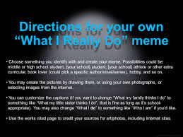 Customize Your Own Meme - icebreaker what i really do meme activity student copy ppt video