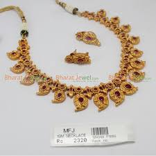 gold stones necklace images 1gm gold finish ruby stones necklace set online jpg