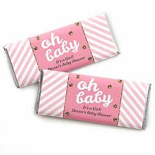 candy bar baby shower hello one pink and gold personalized baby shower candy