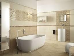 bad design beige badezimmer mit wandfliesen mit mosaik moderne wandgestaltung