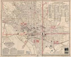 map usa dc large scale washington d c standard guide map 1917