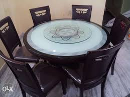 dining table with rotating glass dining table clasf