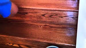 how to refinish oak hardwood stairs applying the polyurethane