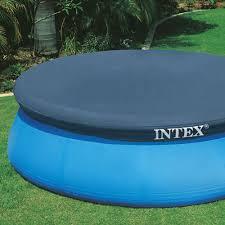 Garten Pool Aufblasbar Intex Abdeckung Kreisrund F U0026uuml R Pool Easy Set 396 U0026nbsp Cm