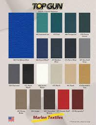 marlen textiles top gun acrylic coated polyester fabric colors