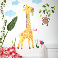 wall stickers height charts bedrooms storage giraffe height chart wall stickers