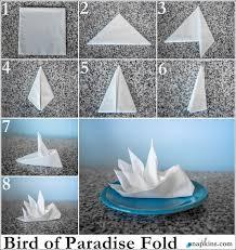 how to fold table napkins bird of paradise napkin fold formal dining pinterest napkins