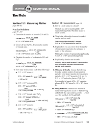 chapter 11 solutions to hw mole unit molecules